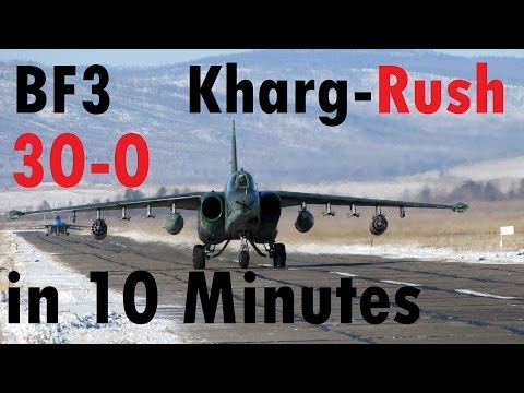 BF3 Rush Jet  | 30 Kills in 10 Minutes - Kharg Island | Flawless HD Gameplay