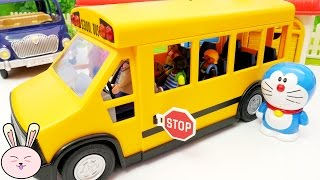 Wheels on the Bus go round and round Playmobil School bus Tayo Bus Nursery Rhymes for Children