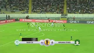 شاهد أهداف الرجاء الرياضي - المغرب 6 -0 ادوانا ستارز - غانا