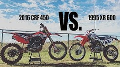 21 Years of Four Stroke Innovation: 95' XR600 VS. 16' CRF450