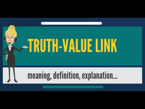 What is TRUTH-VALUE LINK? What does TRUTH-VALUE LINK mean? TRUTH-VALUE LINK meaning