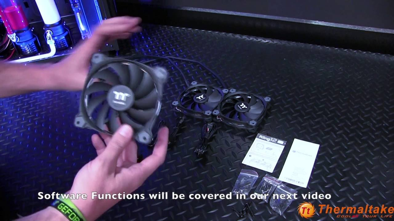Riing 12 TT Premium Edition RGB Fan Installation Overview