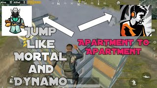How to Jump Like MORTAL & Dynamo in School Apartments in Pubg Mobile | Full Tutorial