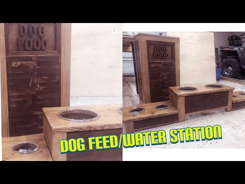 DOG FEED & WATER STATION