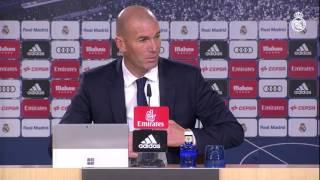 Zidane orgulloso y contento tras la remontada frente al Deportivo
