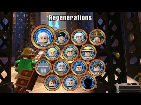LEGO Dimensions  All 13 Doctors Entrance & Exit Lines All TARDIS Interiors