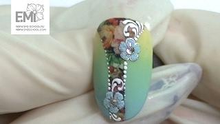Мастер-класс дизайн ногтей омбре, слайдеры Naildress, вензеля