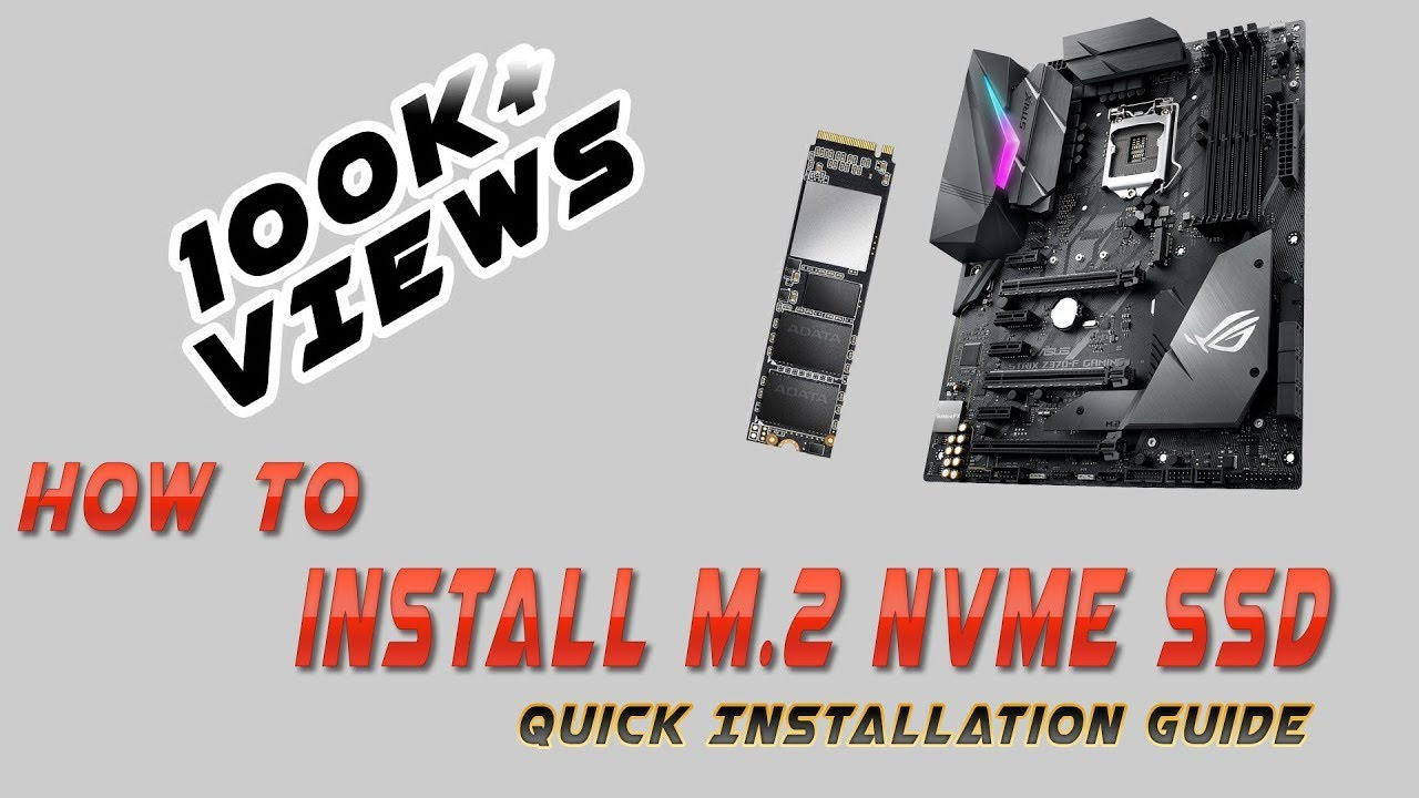 How to Install M 2 NVMe SSD on Asus ROG Strix Z370 Series Motherboard!!