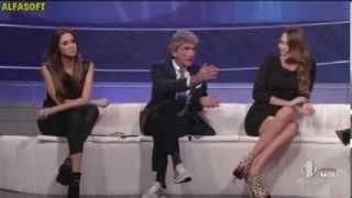 Melissa Satta italian double crossed legs part 2