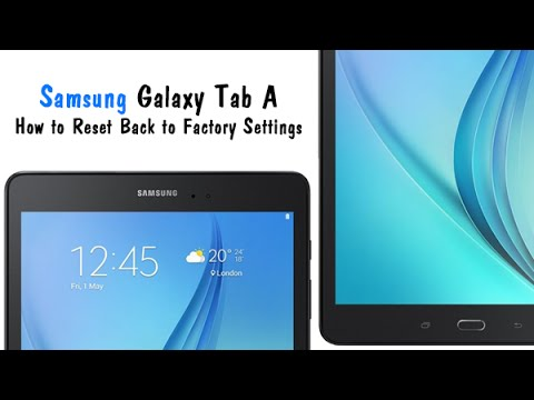 Samsung Galaxy Tab A - How to Reset Back to Factory Settings | H2TechVideos