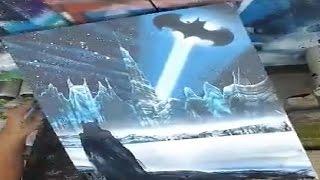 Batman Blues - Spray Paint Art