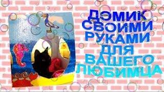 🍓🌷🌺Видео для детей домик для кота/ кошки/ из картона./своими руками./из картонных коробок.