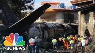 15 Dead After Iranian Cargo Plane Crashes On Mistaken Airfield | NBC News
