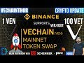 Crypto Update - VeChain (VEN) - MainNet Launch - VeChainThor (VET) Token Swap - Major Partnership