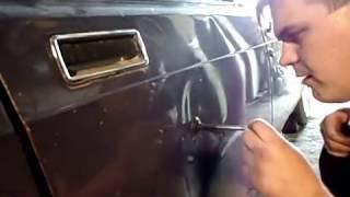 видео Как убрать вмятину на машине
