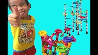 Мармуровий Іграшка Гонки Розпакування Tevelo Мармуровим Кулею