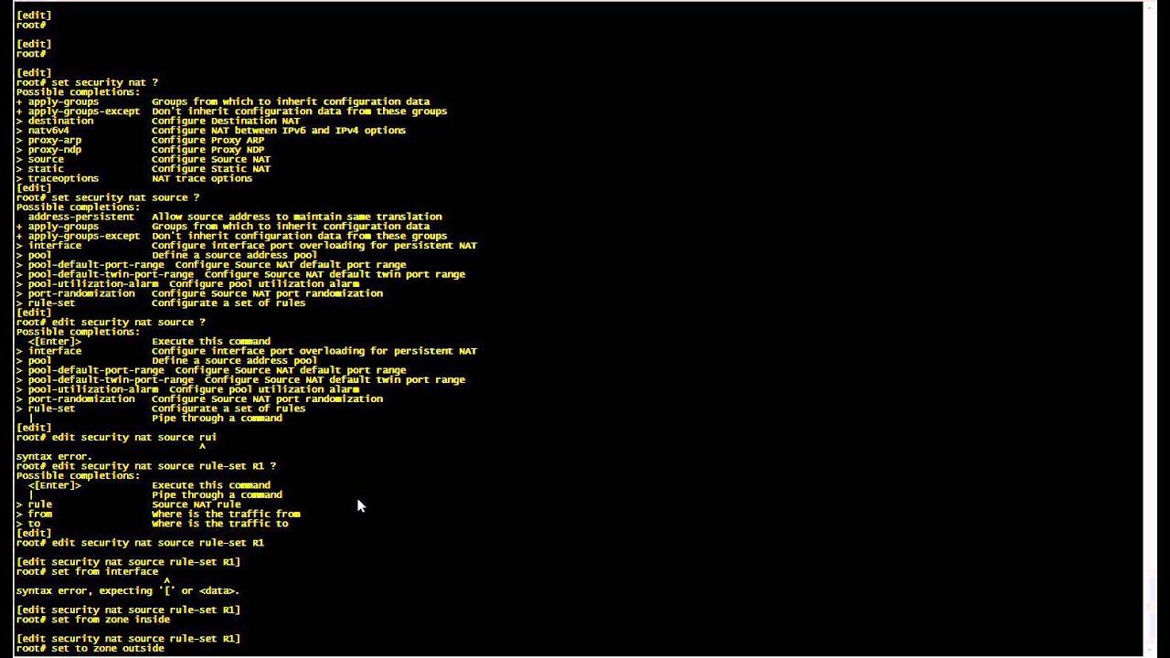 Juniper SRX GNS3 Source NAT, Destination NAT, Security Zones & Policies