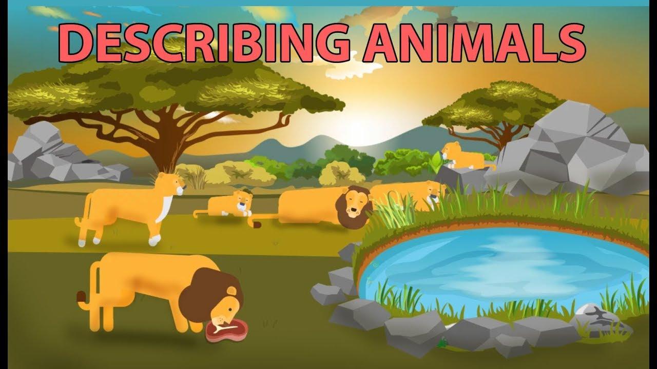 Download Describing Animals  with Simple Present Tense