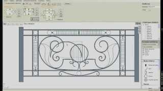 Kovka3D v.1.3. Проектирование кованого забора(Программа «Ковка 3D» - профессиональное проектирование кованых изделий. Официальный сайт - http://www.kovka3d.com., 2014-10-30T07:35:28.000Z)