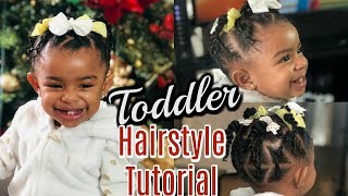 Skylar's Holiday Hairstyle | Curly Hair Routine for Toddlers | VLOGMAS Day 15