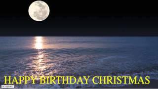 Christmas  Moon La Luna - Happy Birthday