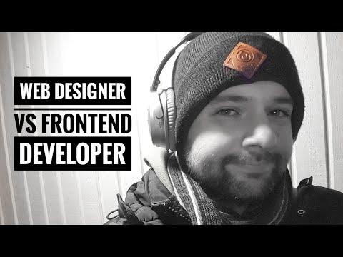 Web designer vs frontend developer
