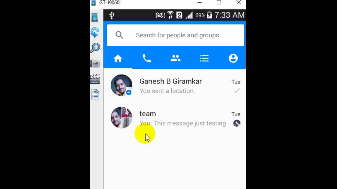 How to access archive in Facebook messenger android app