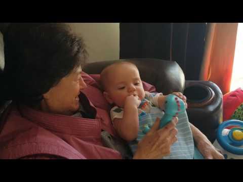 Grandma Skeen and coop