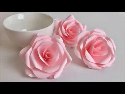 Diy Como Hacer Tus Propios Moldes Para Flores De Papel Medianas