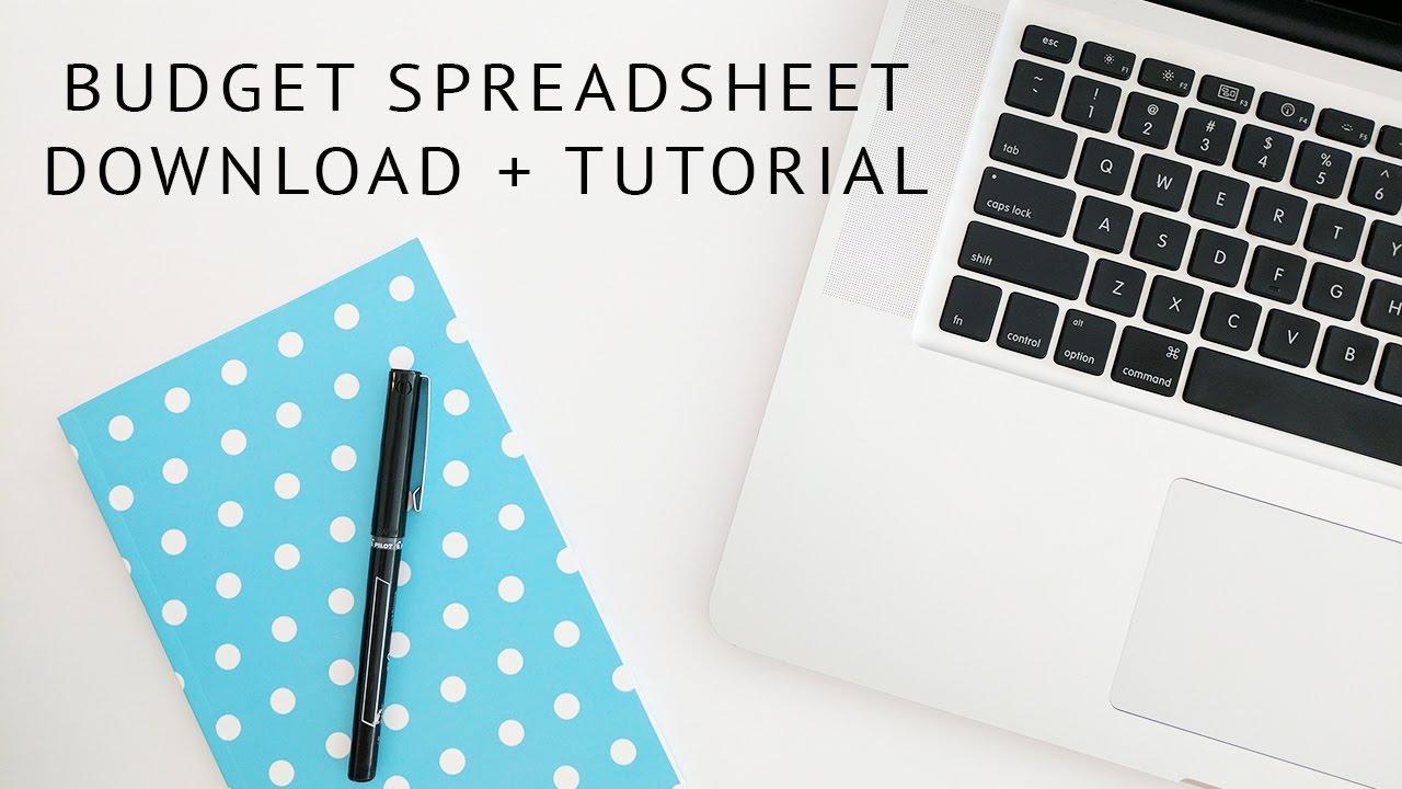 household budget and finances google spreadsheet tutorial youtube