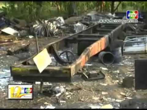 ตร ตรวจสอบอู่ซ่อมรถบัสพบรถที่แจ้งหายไว้หลายคันถูกตัดชิ้นส่วน