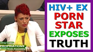HIV+ Ex Porn Star Cameron Adams (Bay) 1/2. Exposes Porn Exploitation to Senate &Supports Condom Bill