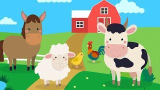 ЖИВОТНЫЕ НА ФЕРМЕ - Домашние животные для детей! Развивающие мультики для детей!