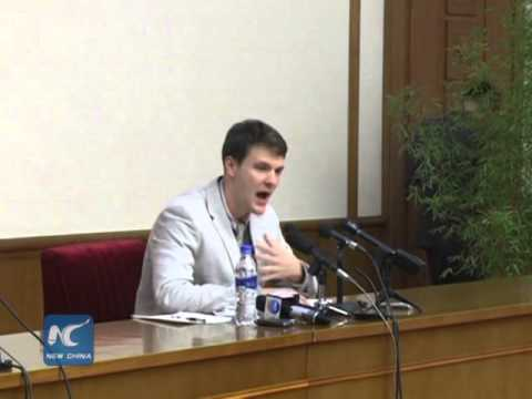 U.S. student held by North Korea pleads for release