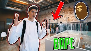 NEW CRAZY BAPE STORE IN LA!!