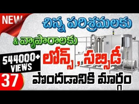 How Get Loans and Subsidy for Industry or Business in Telugu - 37
