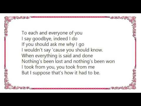 Gerry Rafferty - To Each and Everyone Lyrics