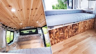 Making the CAMPER VAN Interior!  - Camper Van Build Video