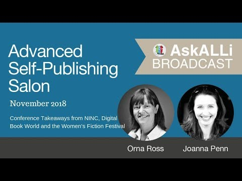 5 Tips for Growing your Author Business: AskALLi Advanced Self-Publishing Salon November 2018