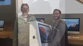 Mac 5K Unboxing, Apple Store Time Lapse. Retina 5120x2880 set up desktop