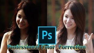 របៀបកែព័ណរូបថតអោយបានស្អាតតាមស្តង់ដារ - Professional Color Correction by Photoshop CC 2018