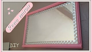 How to design an old mirror DIY // DIY Comment Décorer un Vieux Miroir