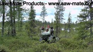 SAW-MATE Products - Long ATV box with 2 Saw Holders