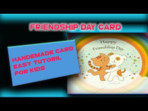 Friendship Day Card Idea | How To Make Friendship Day Card | Easy Tutorial for Kids