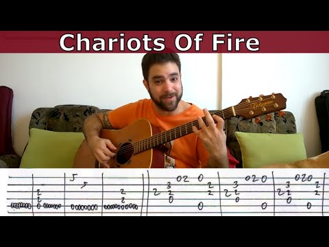 Fingerstyle Tutorial: Chariots of Fire - Guitar Lesson w/ TAB