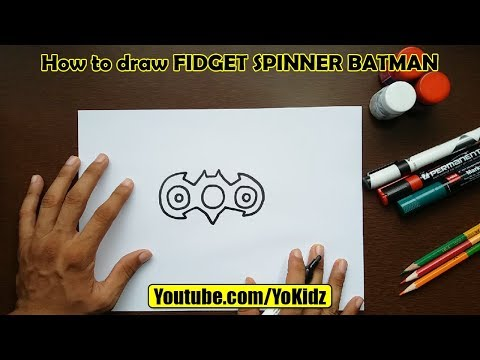 How to draw FIDGET SPINNER BATMAN