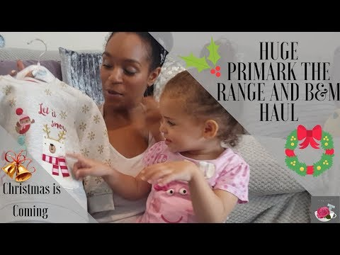 PRIMARK, THE RANGE AND B & M HAUL || CHRISTMAS DECOR, CLOTHES AND HOME ACCESSORIES