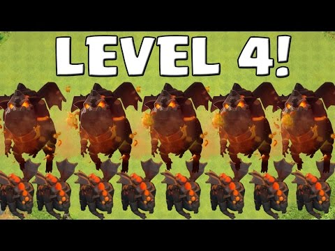 LAVAHUND LEVEL 4!    CLASH OF CLANS    Let's Play CoC [Android iOS ]