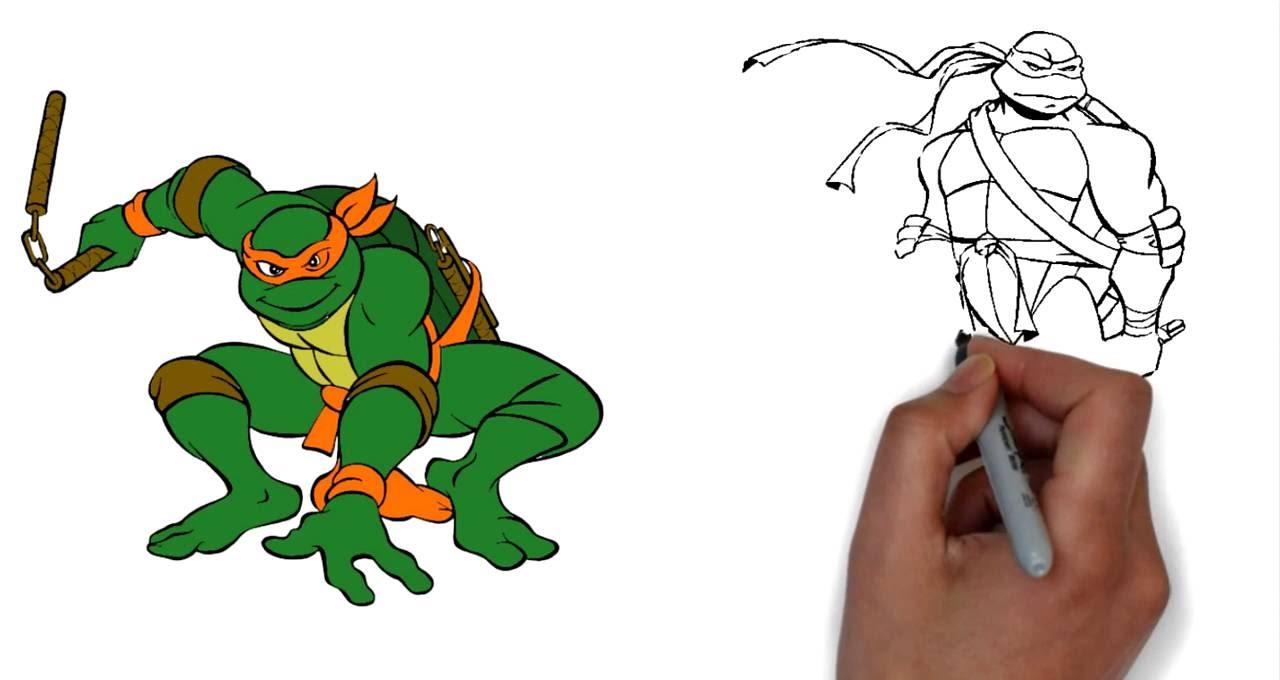 рисовать черепашки ниндзя картинки разработаны для самостоятельного