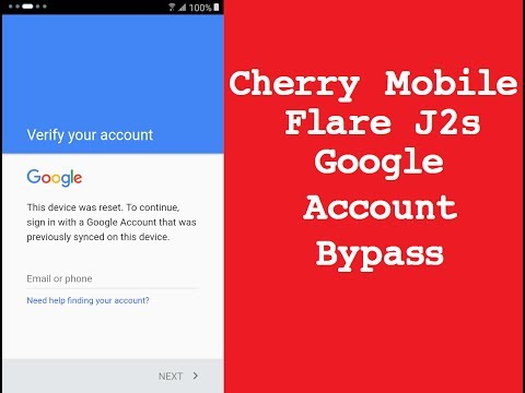 Cherry Mobile Flare J2s Google Account Bypass